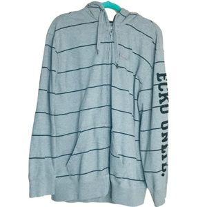 ECKO zip up hooded sweatshirt. Men's size XL gray
